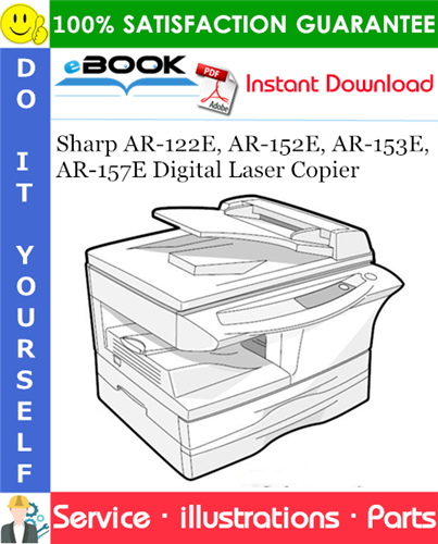 Thumbnail ☆☆ Best ☆☆ Sharp AR-122E, AR-152E, AR-153E, AR-157E Digital Laser Copier Parts Manual