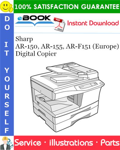 Thumbnail ☆☆ Best ☆☆ Sharp AR-150, AR-155, AR-F151 (Europe) Digital Copier Parts Manual