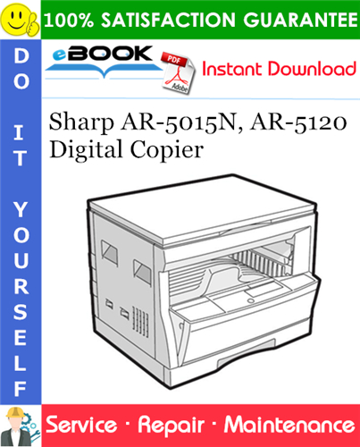 Thumbnail ☆☆ Best ☆☆ Sharp AR-5015N, AR-5120 Digital Copier Service Repair Manual