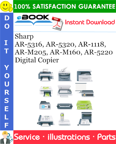 Thumbnail ☆☆ Best ☆☆ Sharp AR-5316, AR-5320, AR-1118, AR-M205, AR-M160, AR-5220 Digital Copier Parts Manual