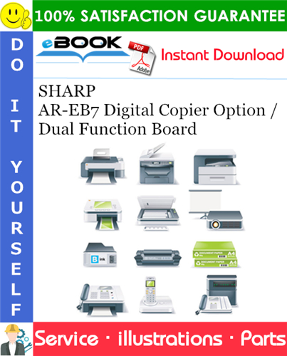 Thumbnail ☆☆ Best ☆☆ SHARP AR-EB7 Digital Copier Option / Dual Function Board Parts Manual