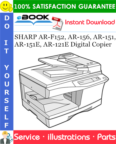 Thumbnail ☆☆ Best ☆☆ SHARP AR-F152, AR-156, AR-151,AR-151E, AR-121E Digital Copier Parts Manual