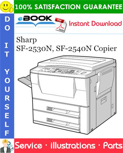 Thumbnail ☆☆ Best ☆☆ Sharp SF-2530N, SF-2540N Copier Parts Manual