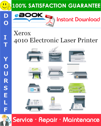 Thumbnail ☆☆ Best ☆☆ Xerox 4010 Electronic Laser Printer Service Repair Manual