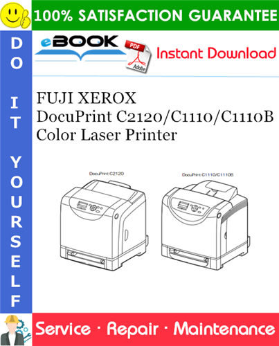 Thumbnail ☆☆ Best ☆☆ FUJI XEROX DocuPrint C2120/C1110/C1110B Color Laser Printer Service Repair Manual