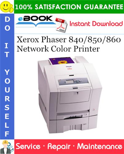 Thumbnail ☆☆ Best ☆☆ Xerox Phaser 840/850/860 Network Color Printer Service Repair Manual