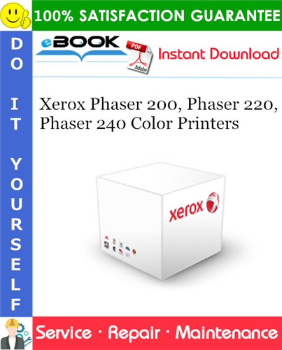 Thumbnail ☆☆ Best ☆☆ Xerox Phaser 200, Phaser 220, Phaser 240 Color Printers Service Repair Manual