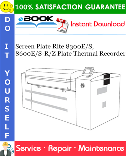 Thumbnail ☆☆ Best ☆☆ Screen Plate Rite 8300E/S, 8600E/S-R/Z Plate Thermal Recorder Service Repair Manual