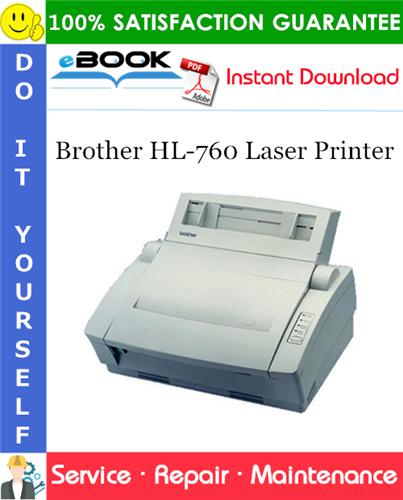 Thumbnail ☆☆ Best ☆☆ Brother HL-760 Laser Printer Service Repair Manual
