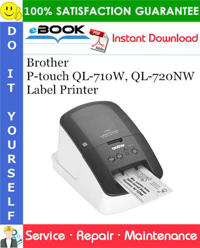 Thumbnail ☆☆ Best ☆☆ Brother P-touch QL-710W, QL-720NW Label Printer Service Repair Manual