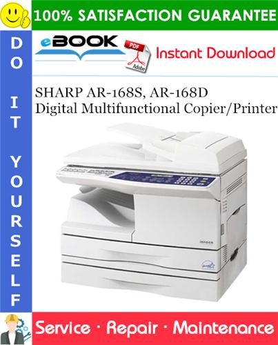 Thumbnail ☆☆ Best ☆☆ SHARP AR-168S, AR-168D Digital Multifunctional Copier/Printer Service Repair Manual