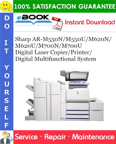 Thumbnail ☆☆ Best ☆☆ Sharp AR-M550N/M550U/M620N/M620U/M700N/M700U Digital Laser Copier/Printer/Digital Multifunctional System Service Repair Manual