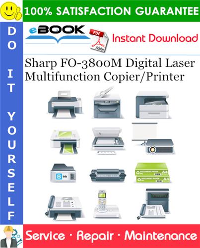 Thumbnail ☆☆ Best ☆☆ Sharp FO-3800M Digital Laser Multifunction Copier/Printer Service Repair Manual
