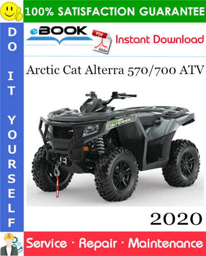 Thumbnail ☆☆ Best ☆☆ 2020 Arctic Cat Alterra 570/700 ATV Service Repair Manual