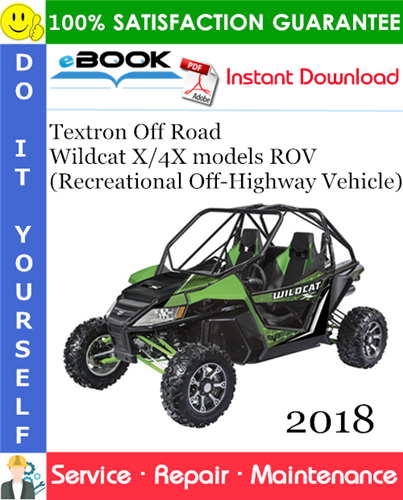 Thumbnail ☆☆ Best ☆☆ 2018 Textron Off Road Wildcat X/4X models ROV (Recreational Off-Highway Vehicle) Service Repair Manual