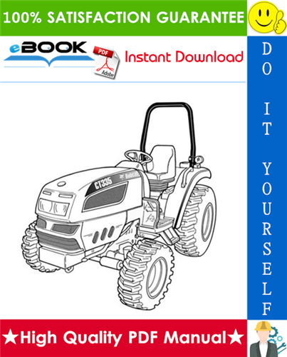Thumbnail ☆☆ Best ☆☆ Bobcat CT335 Compact Tractor (HST) & (SST) Operation & Maintenance Manual