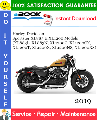 Thumbnail ☆☆ Best ☆☆ 2019 Harley-Davidson Sportster XL883 & XL1200 Models (XL883L, XL883N, XL1200C, XL1200CX, XL1200T, XL1200X, XL1200NS, XL1200XS) Motorcycle Service Repair Manual +