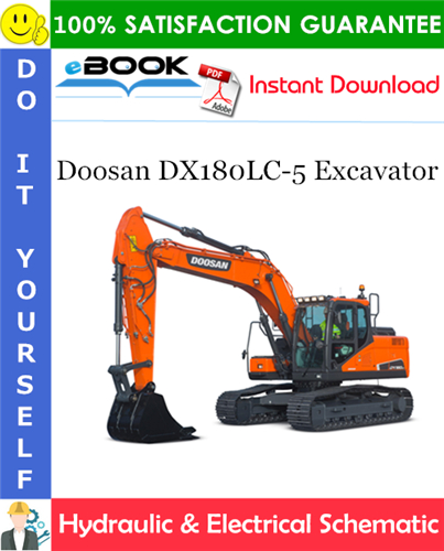 Thumbnail ☆☆ Best ☆☆ Doosan DX180LC-5 Excavator Hydraulic & Electrical Schematic