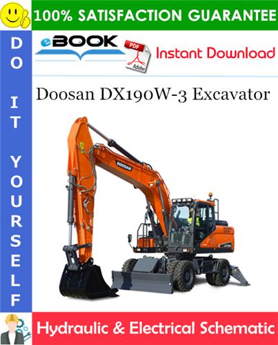 Thumbnail ☆☆ Best ☆☆ Doosan DX190W-3 Excavator Hydraulic & Electrical Schematic