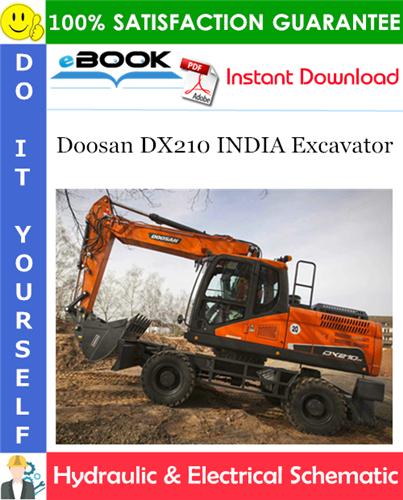 Thumbnail ☆☆ Best ☆☆ Doosan DX210 INDIA Excavator Hydraulic & Electrical Schematic