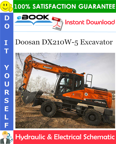 Thumbnail ☆☆ Best ☆☆ Doosan DX210W-5 Excavator Hydraulic & Electrical Schematic