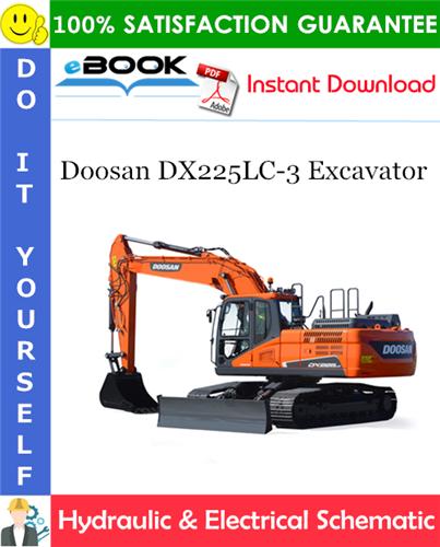 Thumbnail ☆☆ Best ☆☆ Doosan DX225LC-3 Excavator Hydraulic & Electrical Schematic