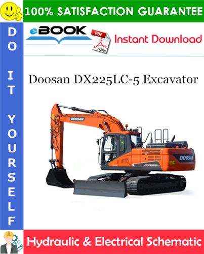 Thumbnail ☆☆ Best ☆☆ Doosan DX225LC-5 Excavator Hydraulic & Electrical Schematic