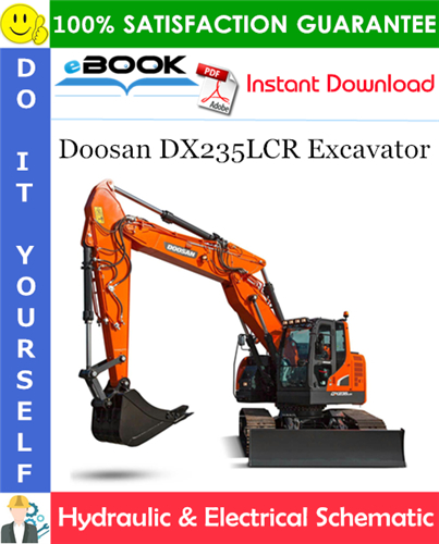 Thumbnail ☆☆ Best ☆☆ Doosan DX235LCR Excavator Hydraulic & Electrical Schematic