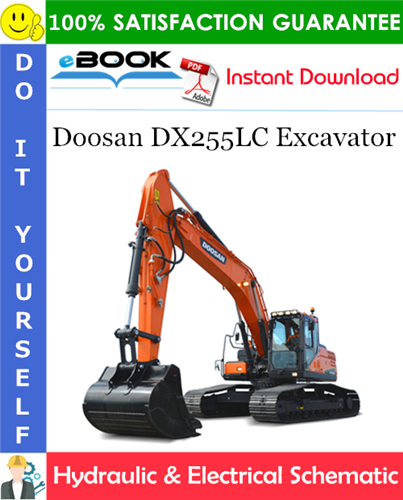 Thumbnail ☆☆ Best ☆☆ Doosan DX255LC Excavator Hydraulic & Electrical Schematic