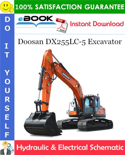Thumbnail ☆☆ Best ☆☆ Doosan DX255LC-5 Excavator Hydraulic & Electrical Schematic