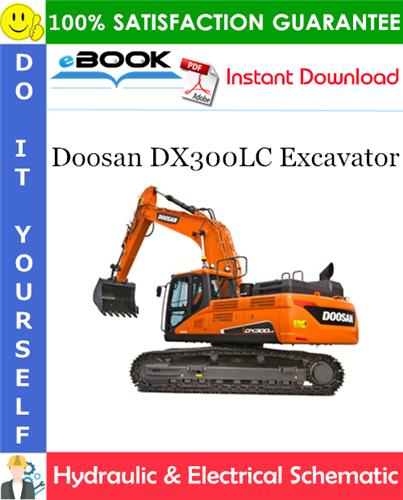Thumbnail ☆☆ Best ☆☆ Doosan DX300LC Excavator Hydraulic & Electrical Schematic