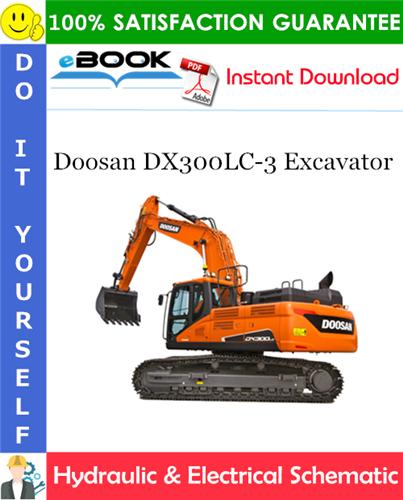 Thumbnail ☆☆ Best ☆☆ Doosan DX300LC-3 Excavator Hydraulic & Electrical Schematic