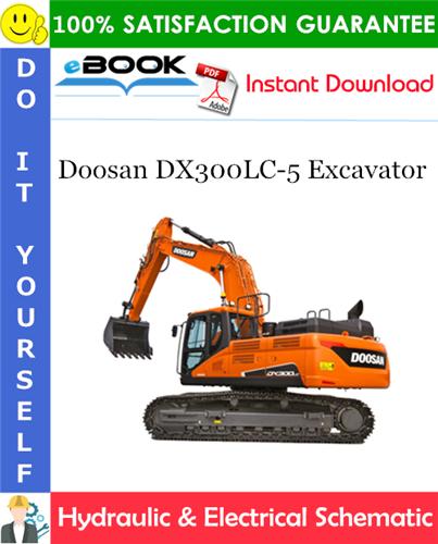 Thumbnail ☆☆ Best ☆☆ Doosan DX300LC-5 Excavator Hydraulic & Electrical Schematic