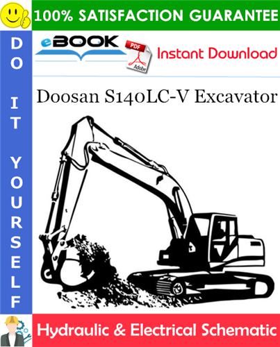 Thumbnail ☆☆ Best ☆☆ Doosan S140LC-V Excavator Hydraulic & Electrical Schematic