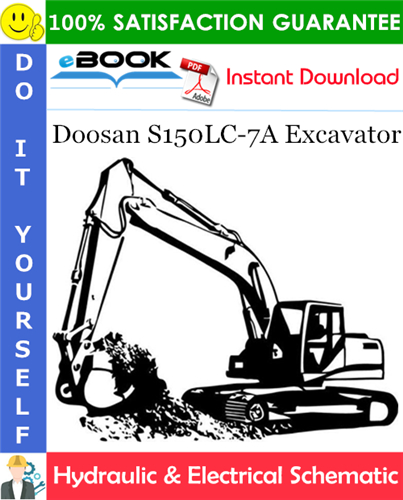 Thumbnail ☆☆ Best ☆☆ Doosan S150LC-7A Excavator Hydraulic & Electrical Schematic