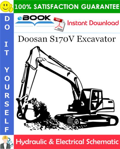 Thumbnail ☆☆ Best ☆☆ Doosan S170V Excavator Hydraulic & Electrical Schematic