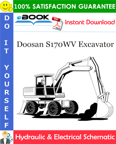 Thumbnail ☆☆ Best ☆☆ Doosan S170WV Excavator Hydraulic & Electrical Schematic