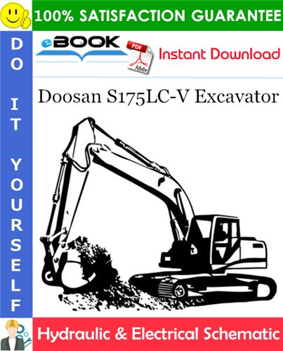 Thumbnail ☆☆ Best ☆☆ Doosan S175LC-V Excavator Hydraulic & Electrical Schematic