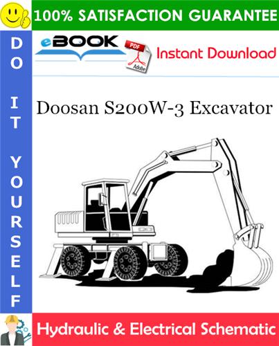 Thumbnail ☆☆ Best ☆☆ Doosan S200W-3 Excavator Hydraulic & Electrical Schematic