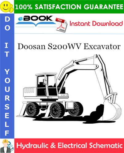Thumbnail ☆☆ Best ☆☆ Doosan S200WV Excavator Hydraulic & Electrical Schematic