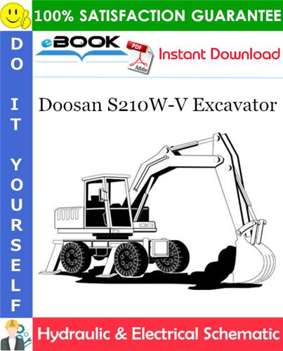 Thumbnail ☆☆ Best ☆☆ Doosan S210W-V Excavator Hydraulic & Electrical Schematic