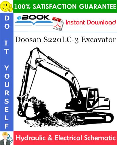 Thumbnail ☆☆ Best ☆☆ Doosan S220LC-3 Excavator Hydraulic & Electrical Schematic