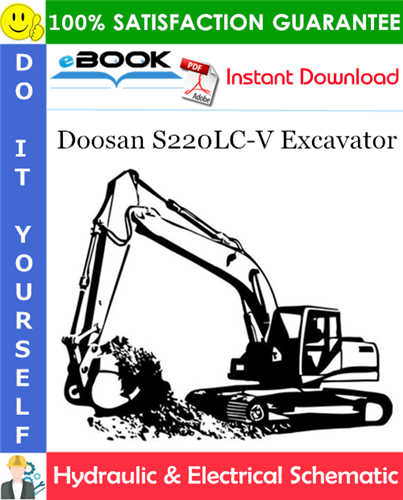 Thumbnail ☆☆ Best ☆☆ Doosan S220LC-V Excavator Hydraulic & Electrical Schematic