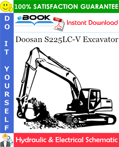 Thumbnail ☆☆ Best ☆☆ Doosan S225LC-V Excavator Hydraulic & Electrical Schematic