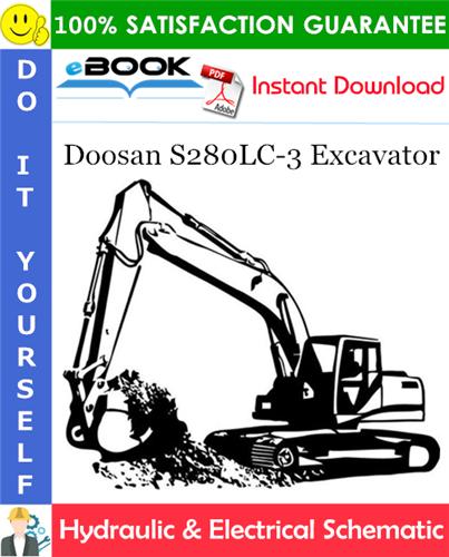 Thumbnail ☆☆ Best ☆☆ Doosan S280LC-3 Excavator Hydraulic & Electrical Schematic