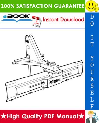 Thumbnail ☆ High-Quality ☆ Bobcat Three-Point Angle Blade Operation & Maintenance Manual
