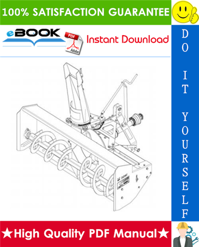 Thumbnail ☆☆ Best ☆☆ Bobcat Three-Point Snow Blower Operation & Maintenance Manual