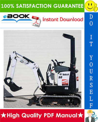 Thumbnail ☆☆ Best ☆☆ Bobcat 418 Excavator Wiring/Hydraulic/Hydrostatic Schematic