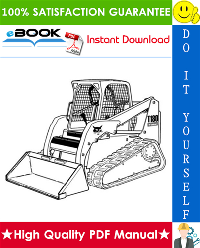 Thumbnail ☆☆ Best ☆☆ Bobcat T180 Turbo, T180 Turbo High Flow Compact Track Loader Service Repair Manual