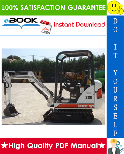 Thumbnail ☆☆ Best ☆☆ Bobcat 320, 320L, 322 Compact Excavator Service Repair Manual + Operation & Maintenance Manual + Wiring/Hydraulic/Hydrostatic Schematic